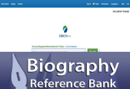 Biography Reference Bank